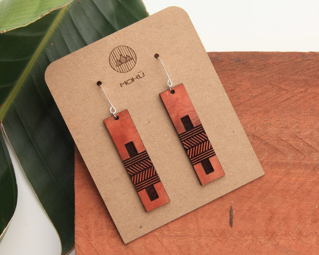 Outrigger Wooden Earrings