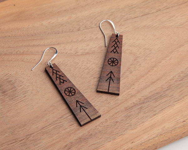 Peace Wooden Earrings