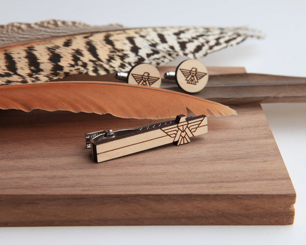 Falcon Tie Bar & Cufflink Set