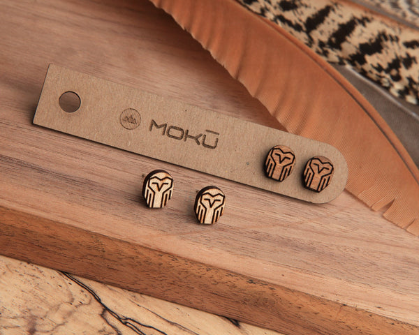 Owl Wooden Stud Earrings