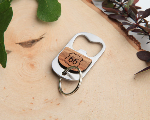 Route 66 Keychain Bottle Opener