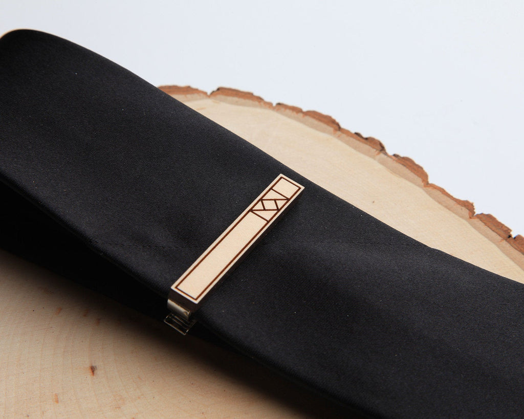 Minimal | Tie Bar & Cufflink Set | Maple
