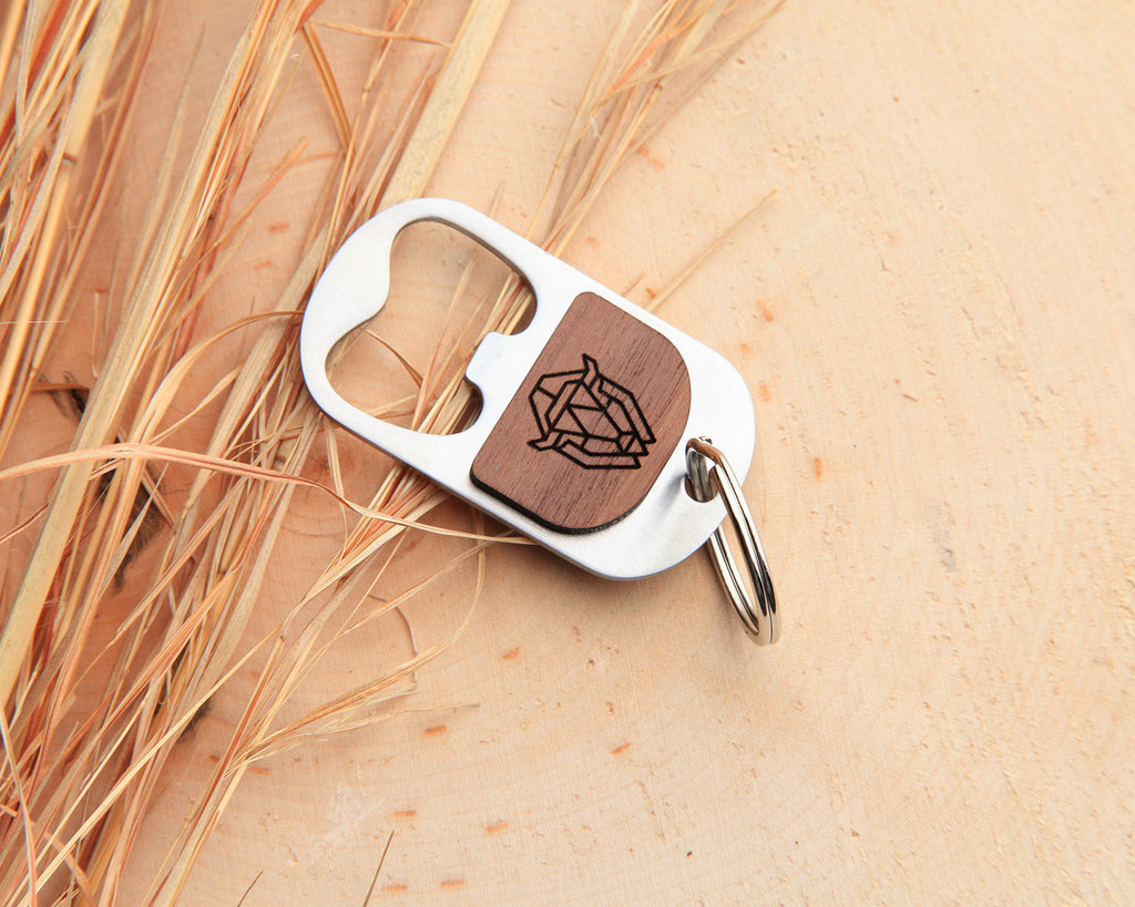 Bison | Keychain Bottle Opener | Walnut and Oak