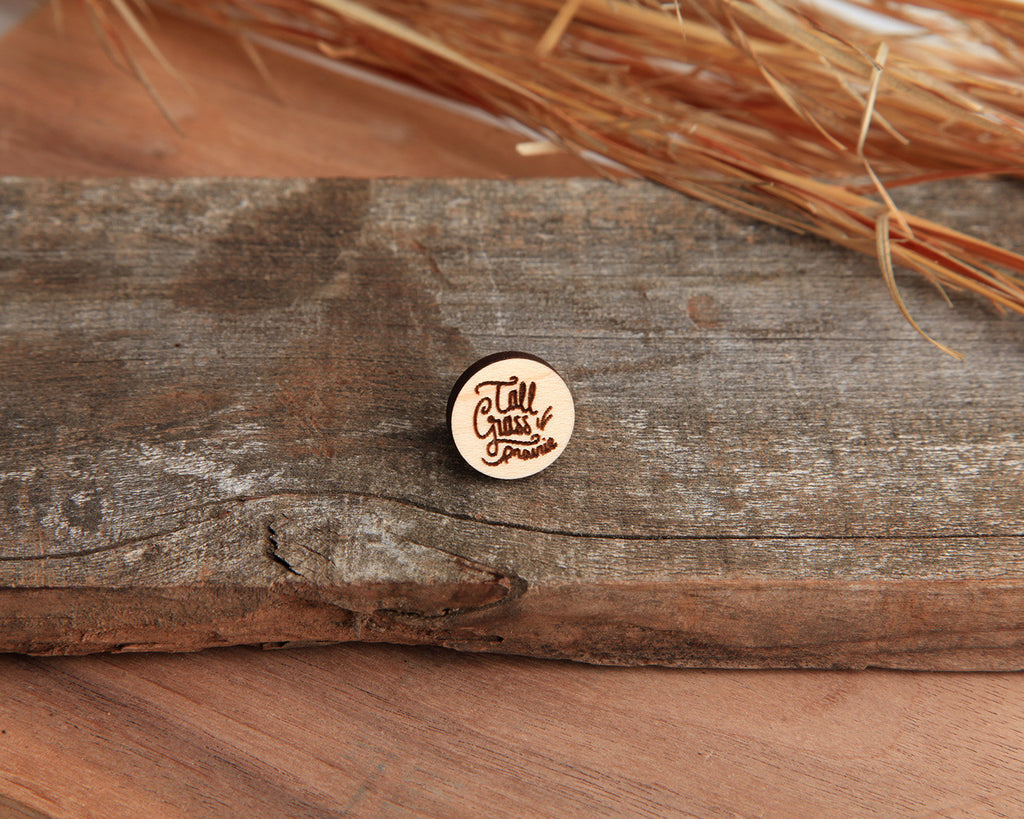 Tall Grass | Wood Pin | Maple