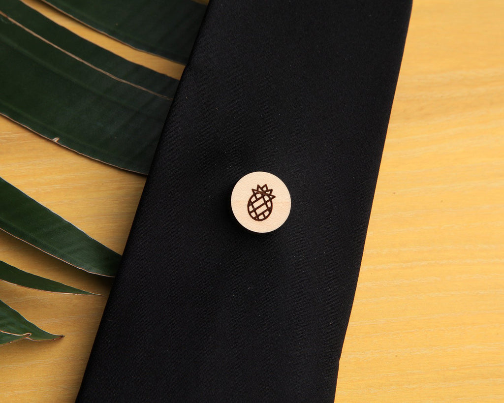 Pineapple | Wood Pin | Maple