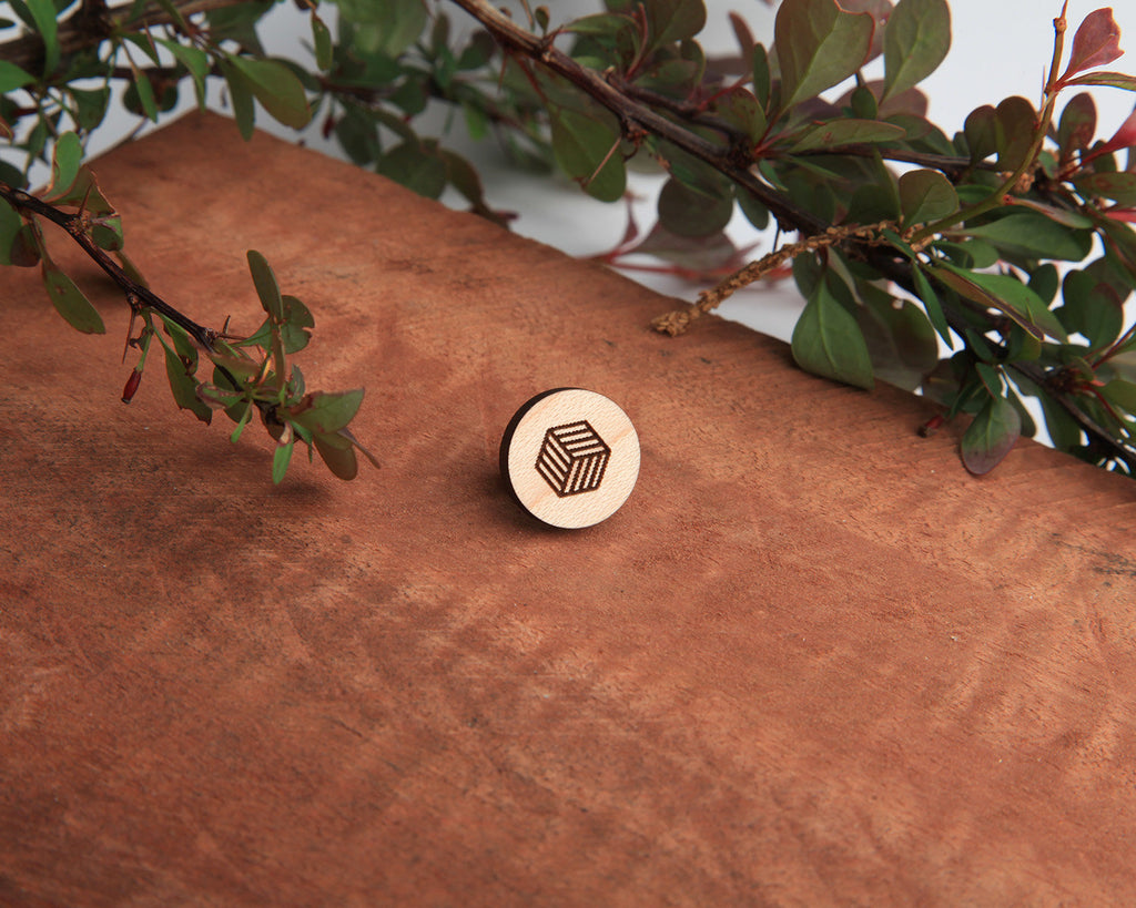 Cube | Wood Pin | Maple
