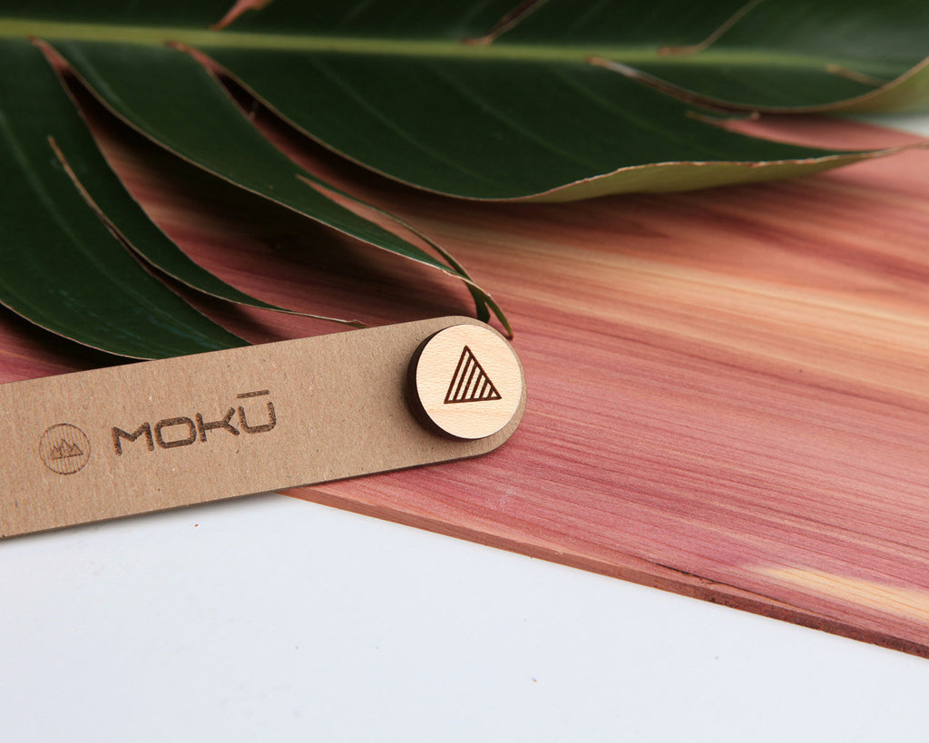 Triangle | Wood Pin | Maple