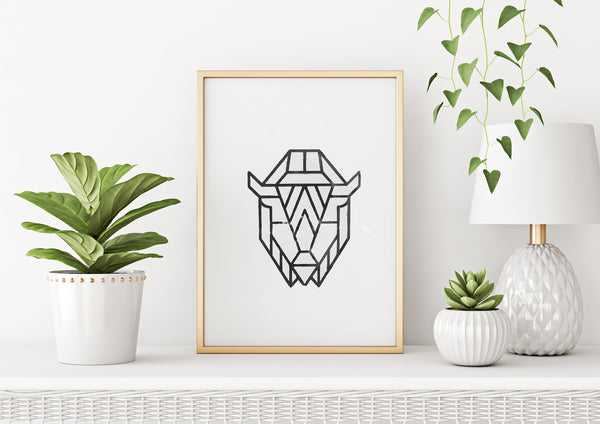 Bison Wood Block Print