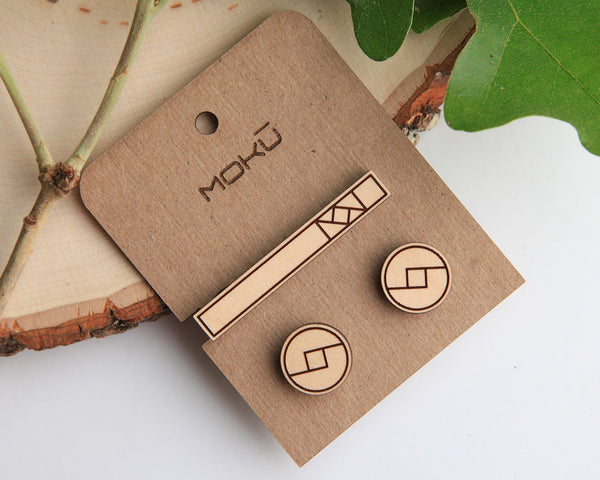 Minimal Tie Bar & Cufflink Set
