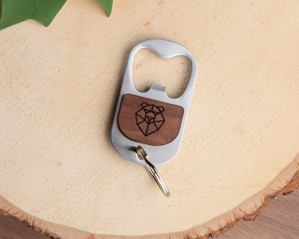 Bear | Keychain Bottle Opener | Walnut and Oak