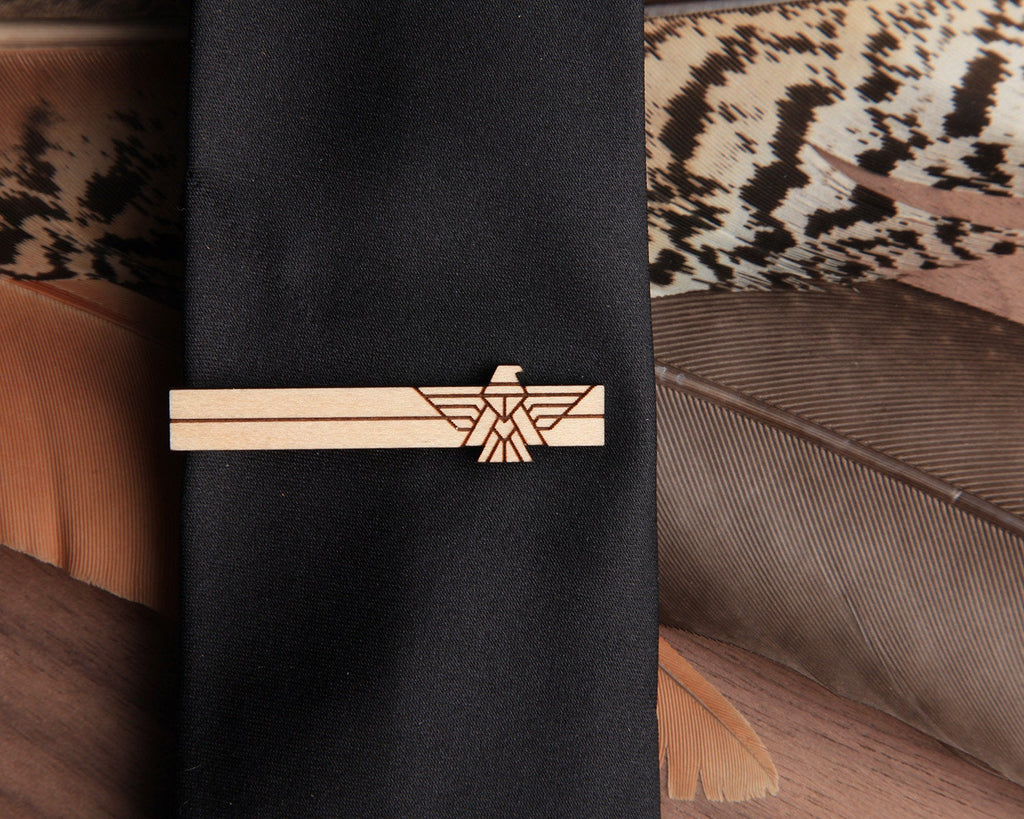 Falcon | Tie Bar & Cufflink Set | Maple