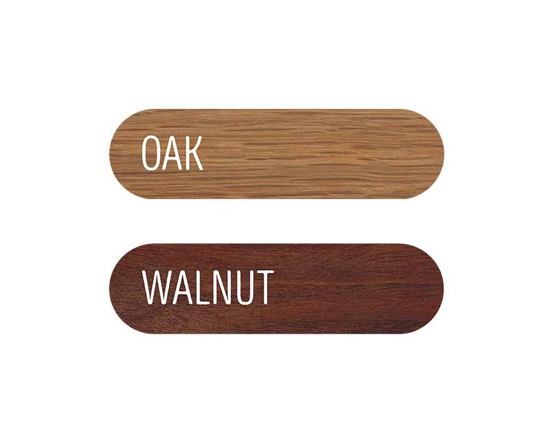 Oklahoma | Wood Earrings | Walnut and Oak