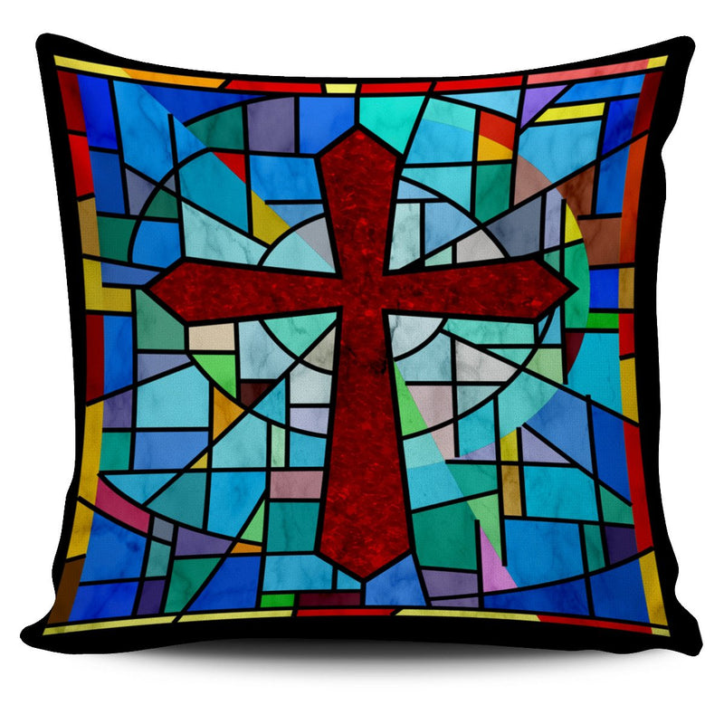 Classical Stained Glass Pillow Cover - Christianity Amore