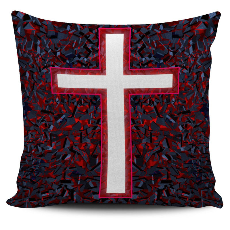 Red Cross Pillow Cover - Christianity Amore
