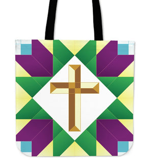 Regal Green & Gold Tote - Christianity Amore