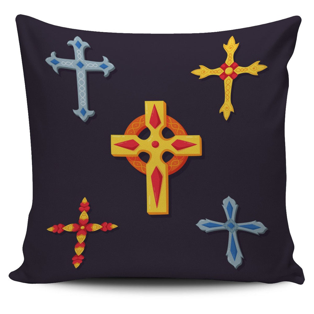 Four Cross Pillow Cover - Christianity Amore