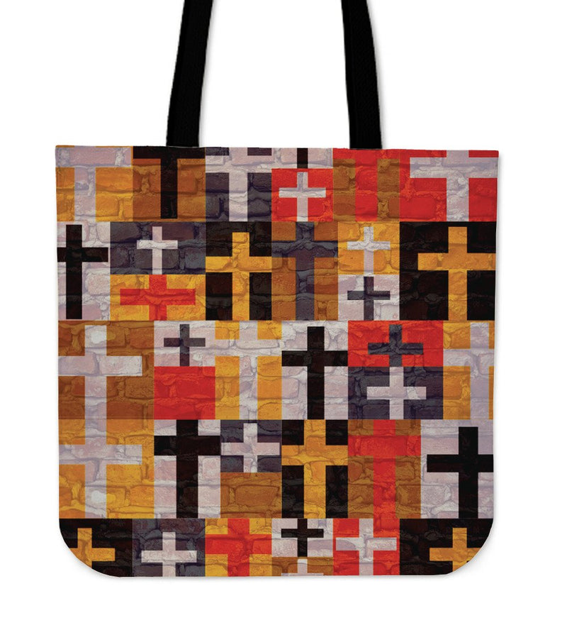 Quilted cross Tote Bag - Christianity Amore