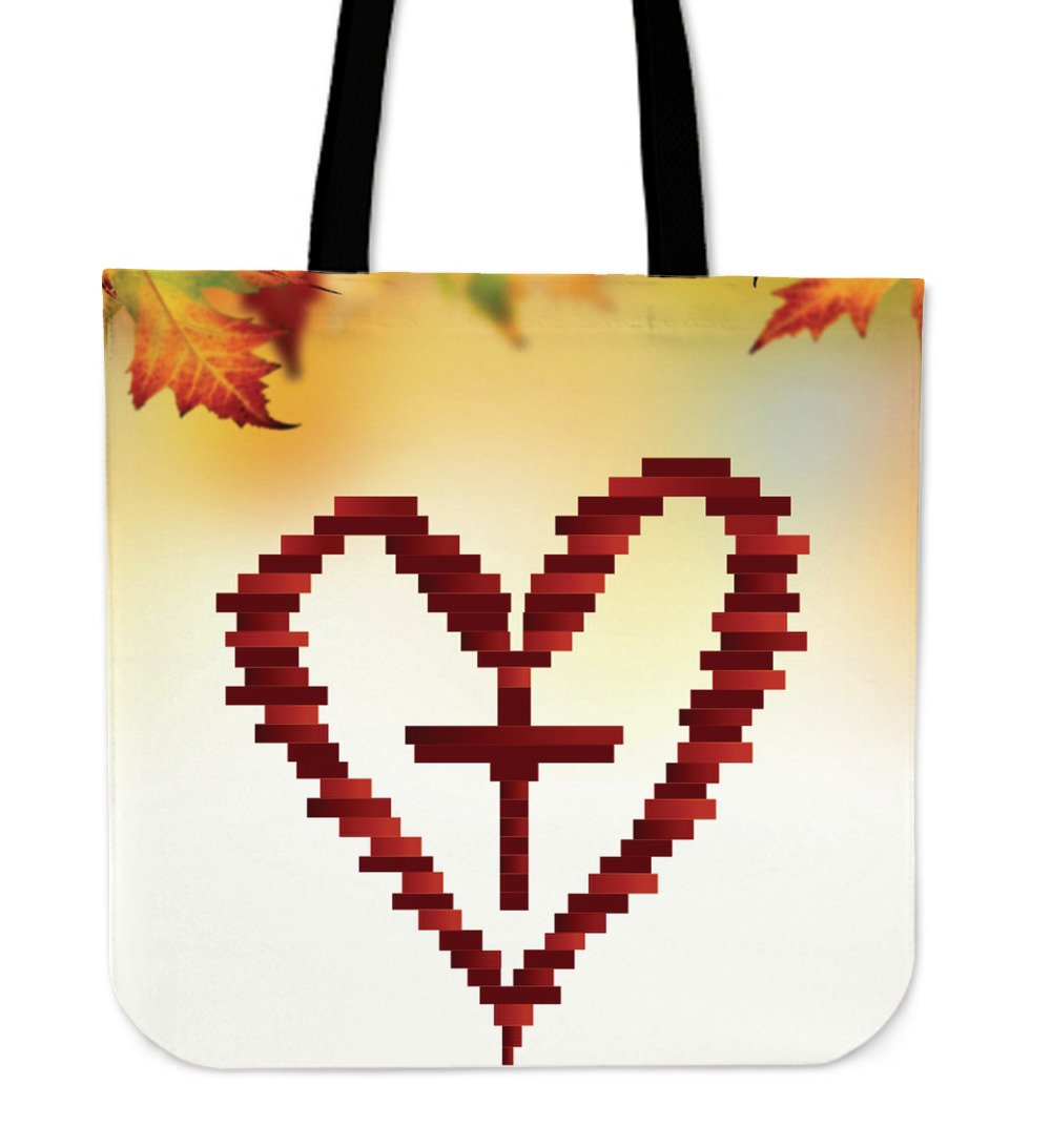 Heart Cross Tote Bag - Christianity Amore