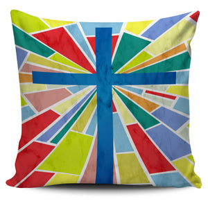 Modern Stained Glass Pillow Cover - Christianity Amore