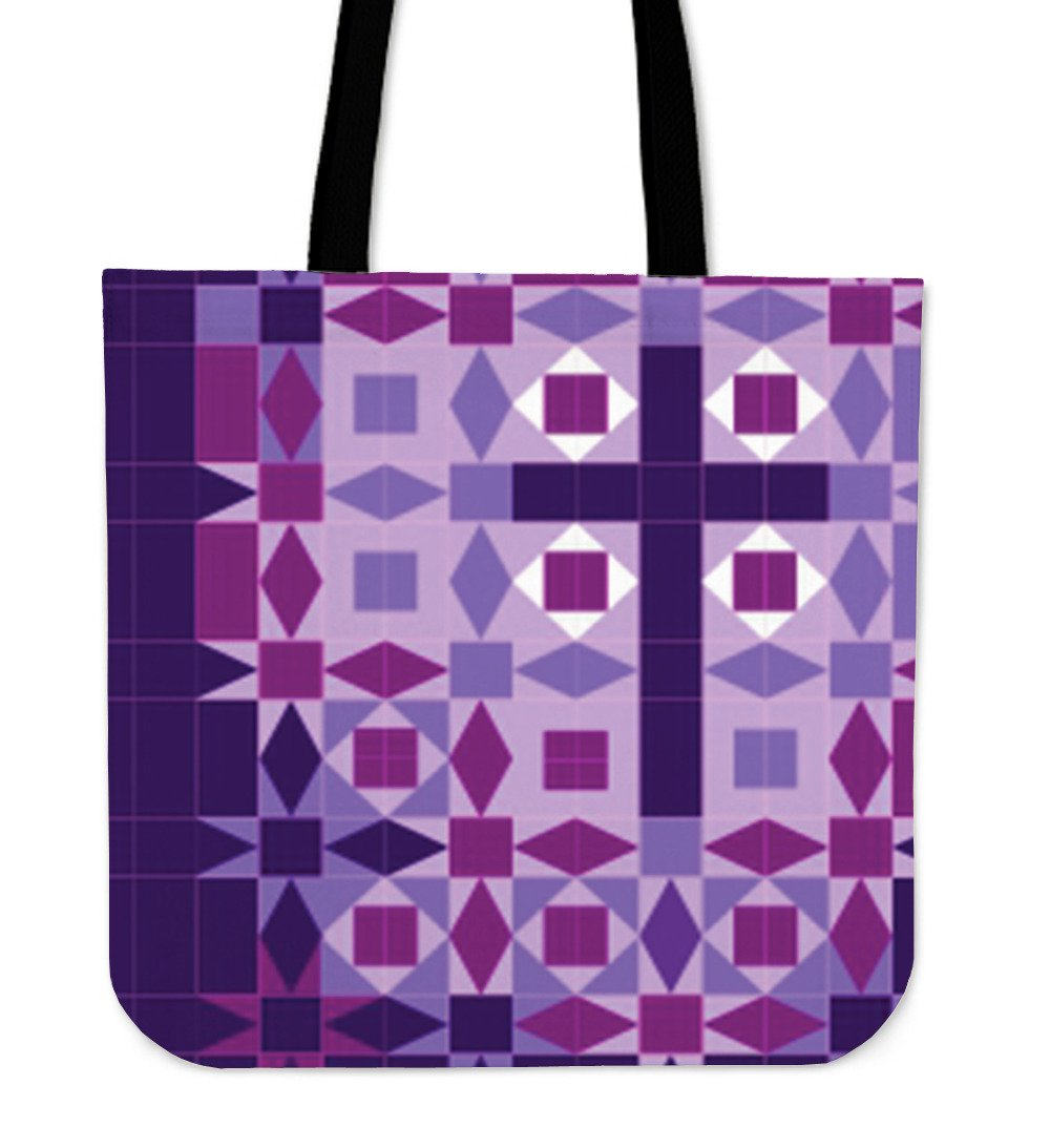 Purple Cross Tote - Christianity Amore