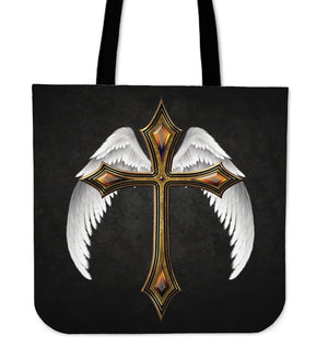 The Fierce Christian Warrior Tote Bag - Christianity Amore