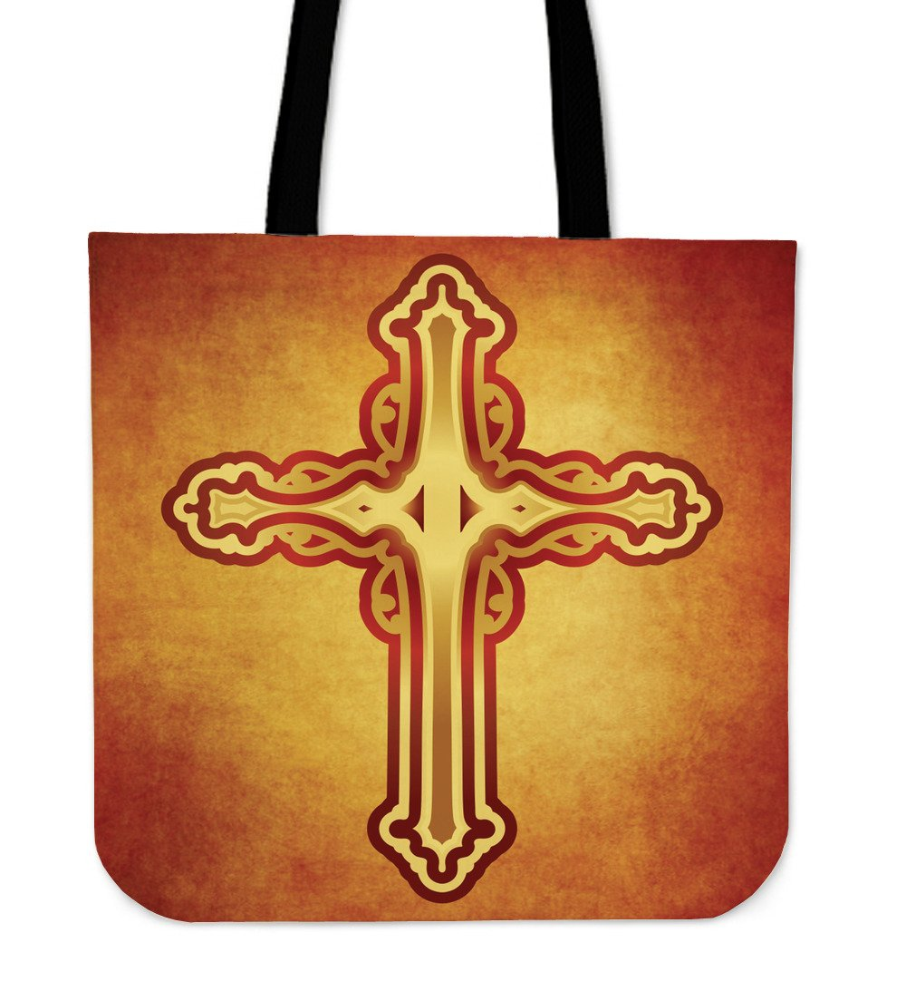 An Original Orange Cross Tote  Bag - Christianity Amore