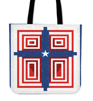 Patriot Cross Tote Bag - Christianity Amore