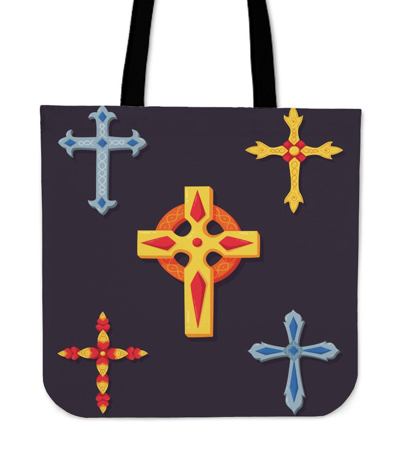 Four Cross Design Tote Bag - Christianity Amore