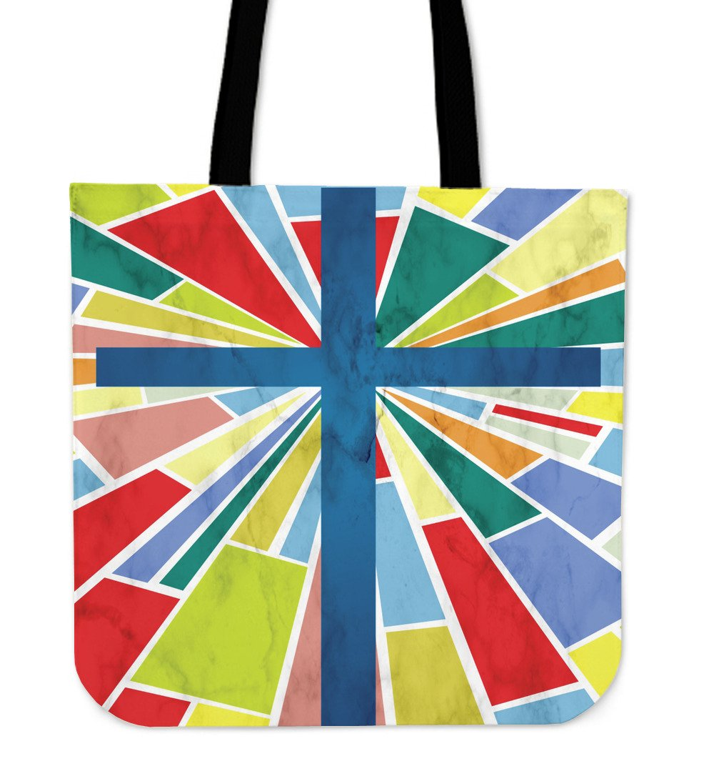 Patchwork quilt stained glass Tote Bag - Christianity Amore