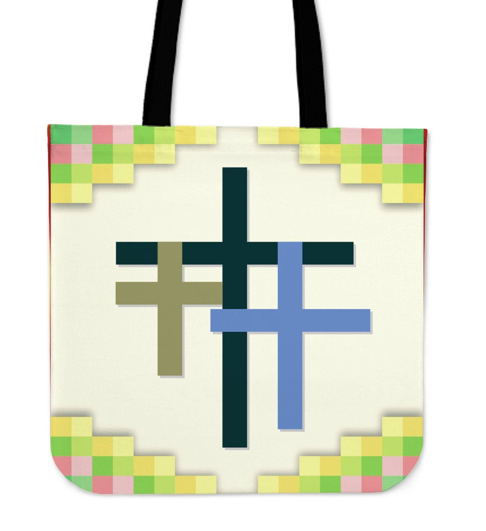 Three Cross Tote Bag - Christianity Amore