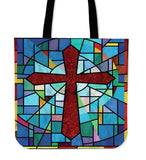 Traditional Stained Glass Tote Bag - Christianity Amore