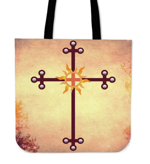 Iron Cross colored Tote Bag - Christianity Amore