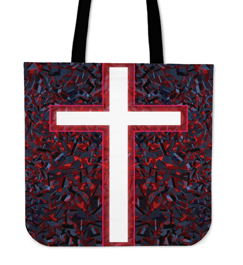 Red Cross Tote Bag - Christianity Amore