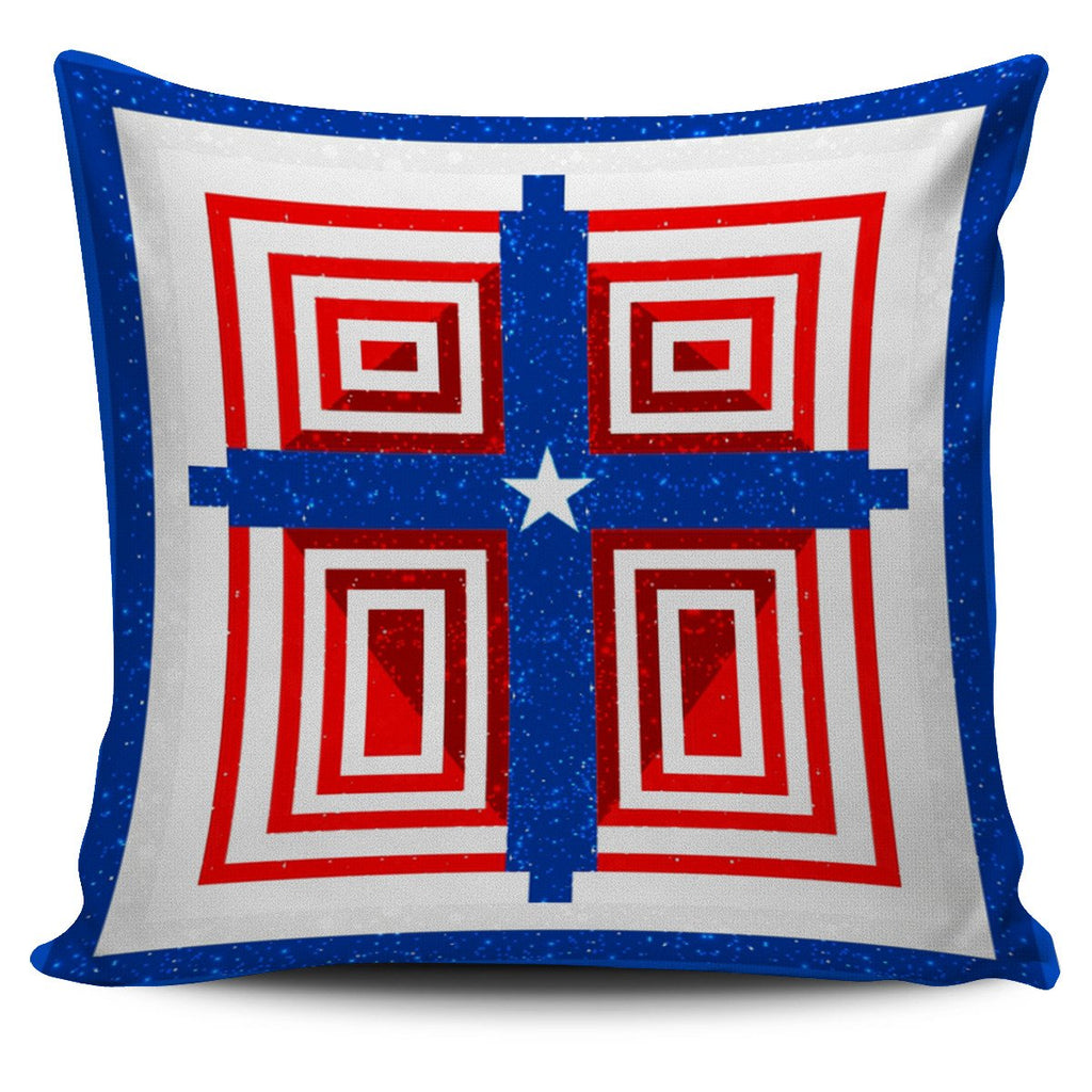 Patriot Cross Pillow Cover - Christianity Amore