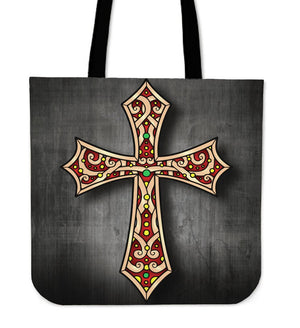 Gothic Cross Tote Bag - Christianity Amore