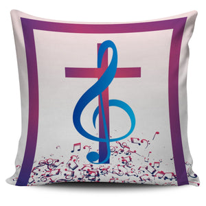 Treble Cross Pillow Cover - Christianity Amore