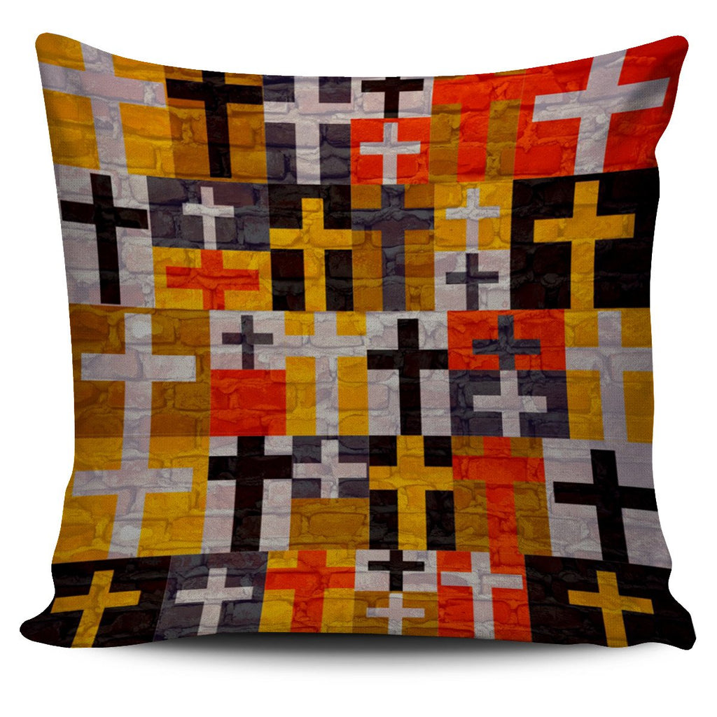 Quilted Cross Pillow Cover - Christianity Amore