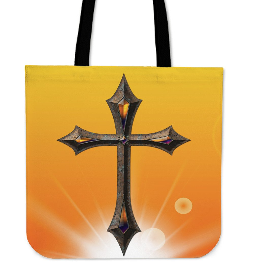 Jeweled Iron Cross Tote Bag - Christianity Amore