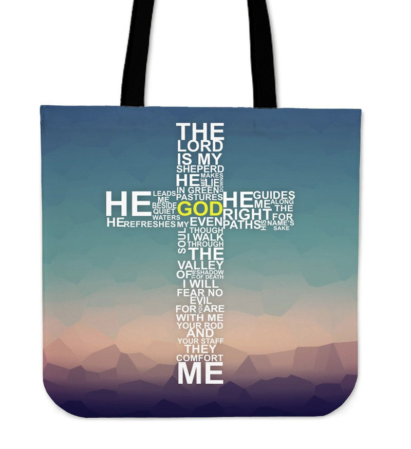 Psalm 23 Cross Tote - Christianity Amore