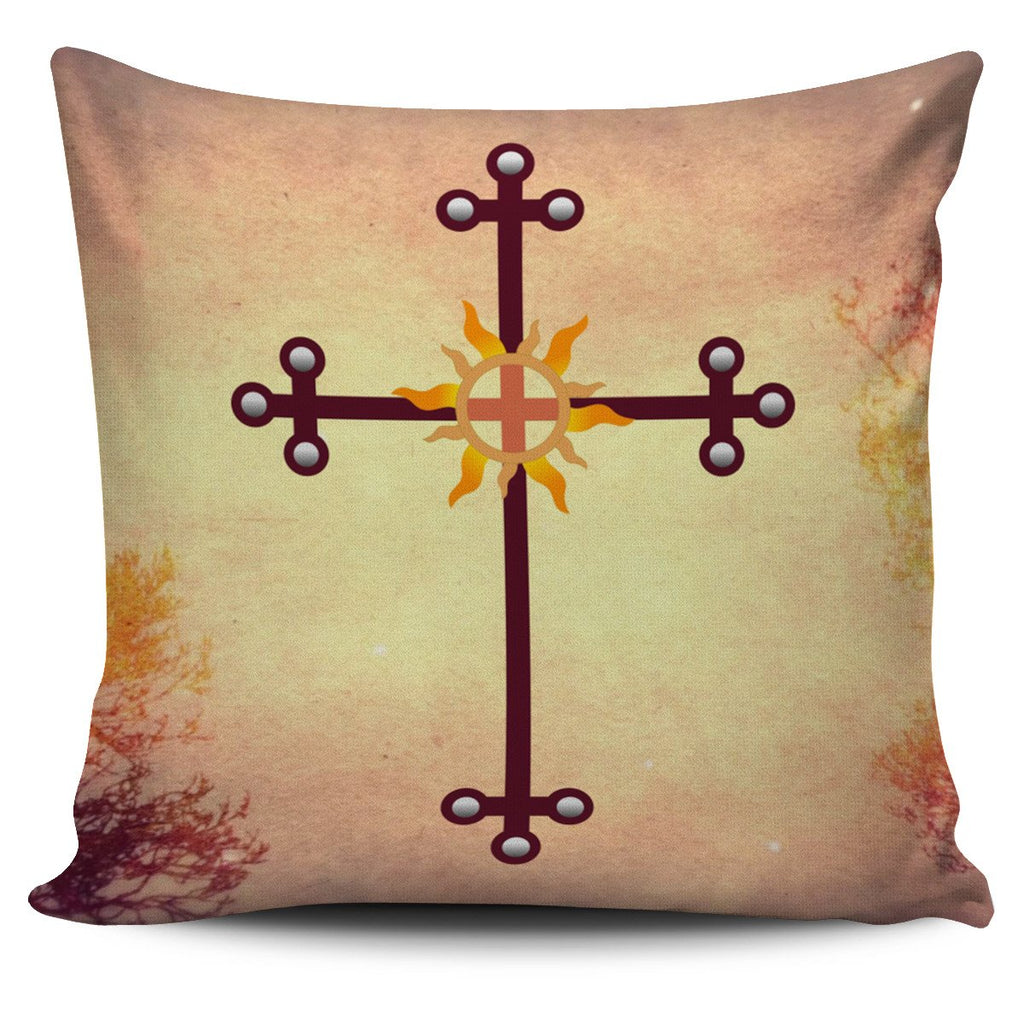 Iron Cross Pillow Cover - Christianity Amore