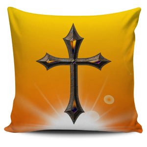 Iron Cross Jewel Pillow Cover - Christianity Amore