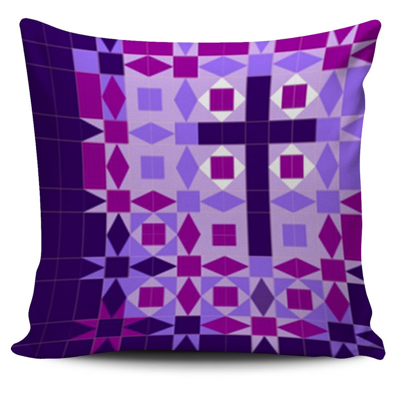 Purple Cross Pillow Cover - Christianity Amore