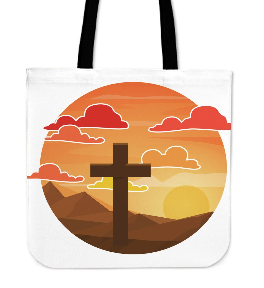 Sunset Cross Tote Bag - Christianity Amore
