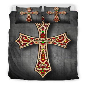 Gothic Cross Duvet Cover - Christianity Amore