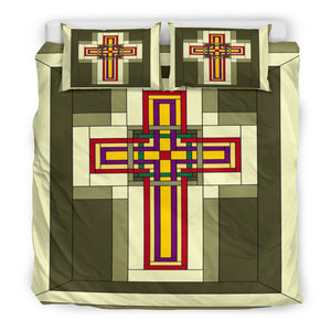 Cabin Fever Cross Duvet Cover - Christianity Amore