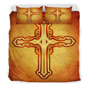 Romantic Orange & Black Duvet Cover - Christianity Amore