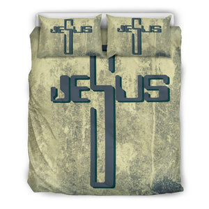 Industrial Jesus Cross Duvet Cover - Christianity Amore