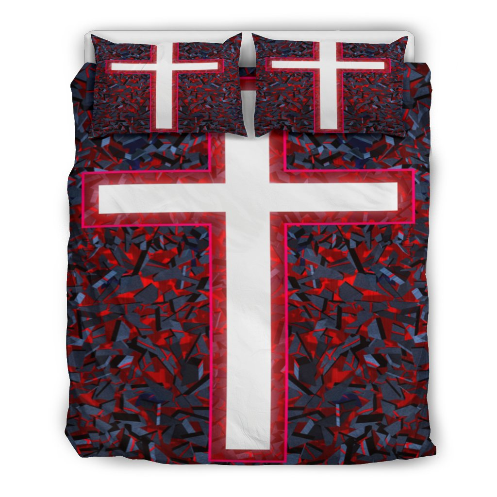 The Red Cross Duvet Cover - Christianity Amore