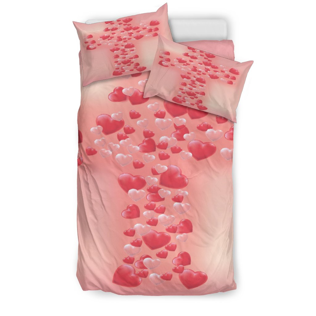 Bubble Heart Cross Duvet Cover - Christianity Amore