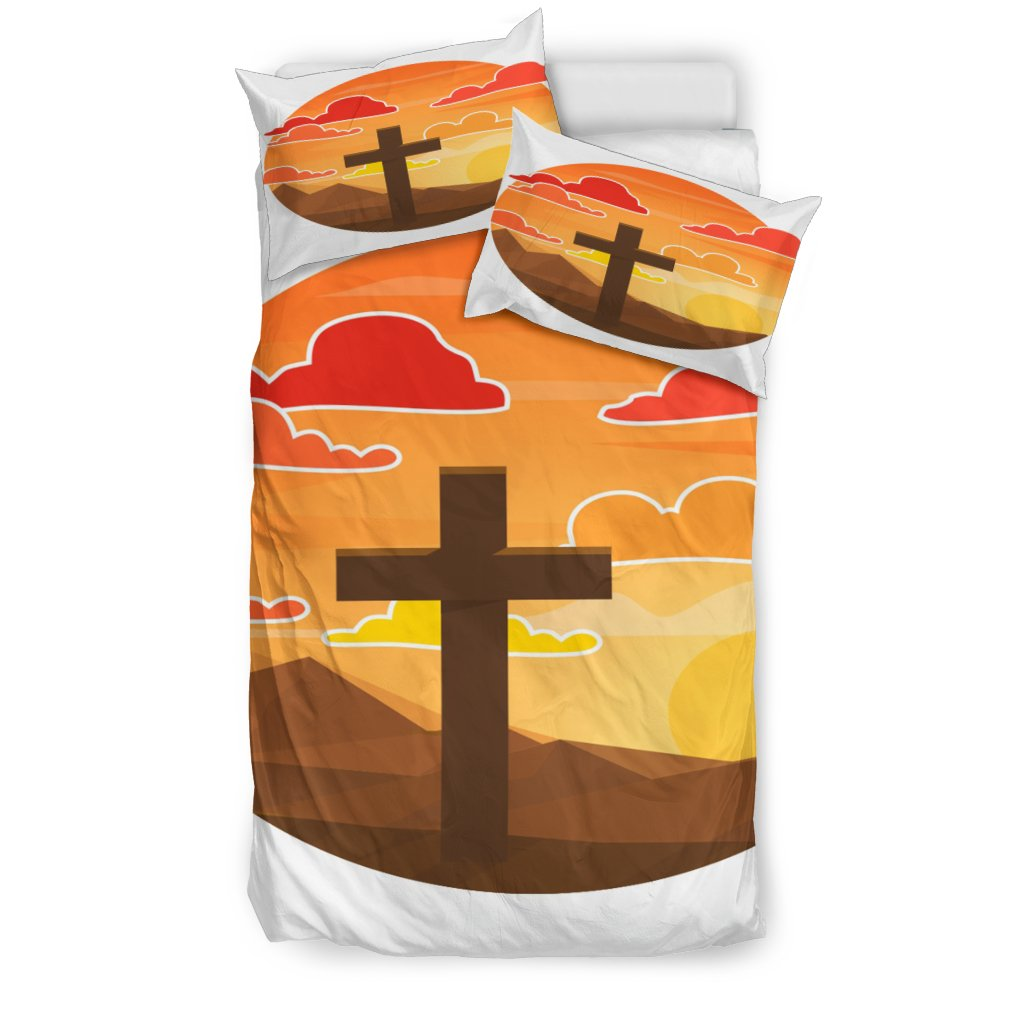 Arizona Sunset Cross Duvet Cover - Christianity Amore